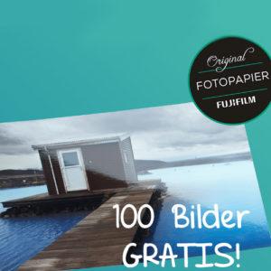 GRATIS 100 Fotoabzüge, zzgl. Versandkosten