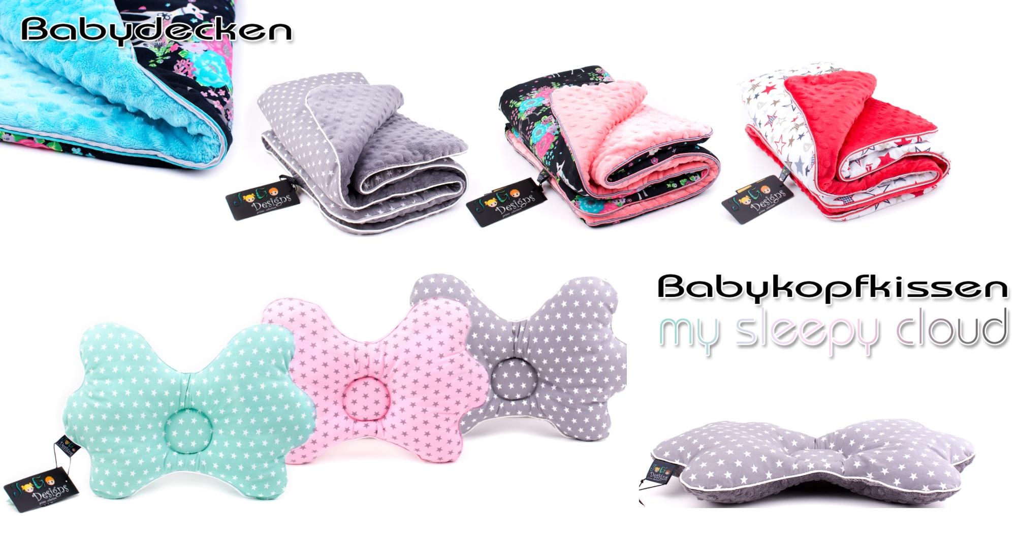 Babydecken und Babykissen von Jogo Designs