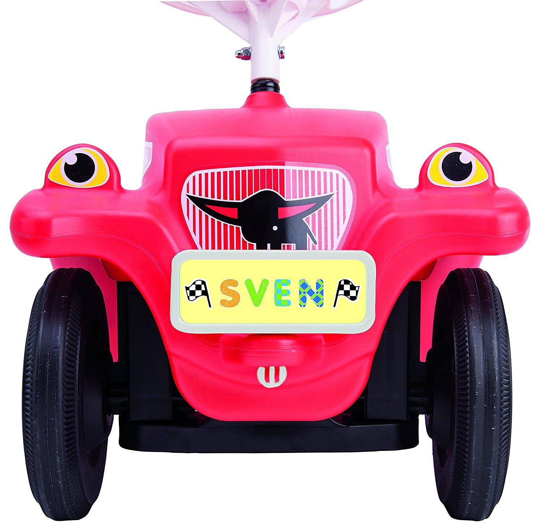 Bobby-Car mit Nummernschild