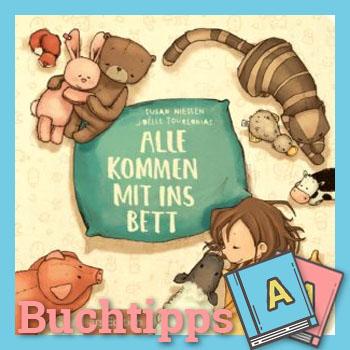 """""""Alle kommen mit ins Bett"""" Buch-Cover"""