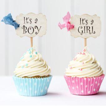 Cupcakes für die Babyparty