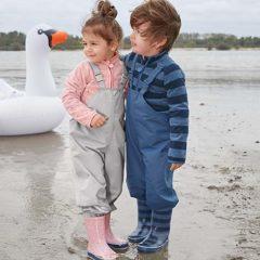 Kinder stehen am Wasser