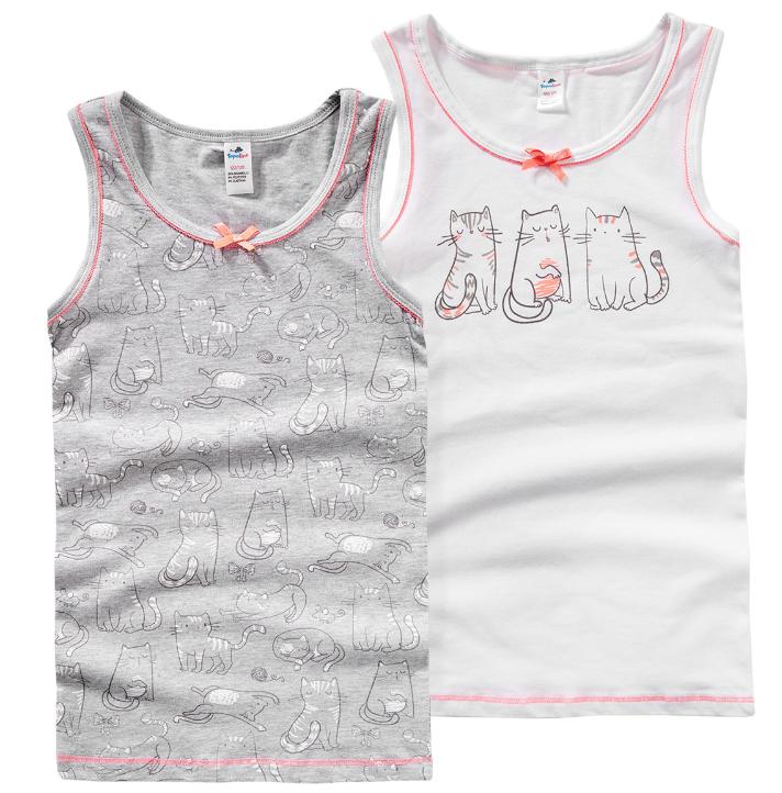 zwei Mädchenunterhemden