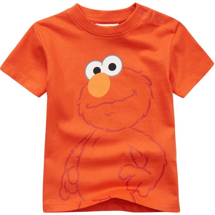 T-Shirt in orange mit Elmo