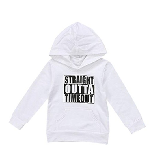 straight outta time out pullover in weiß