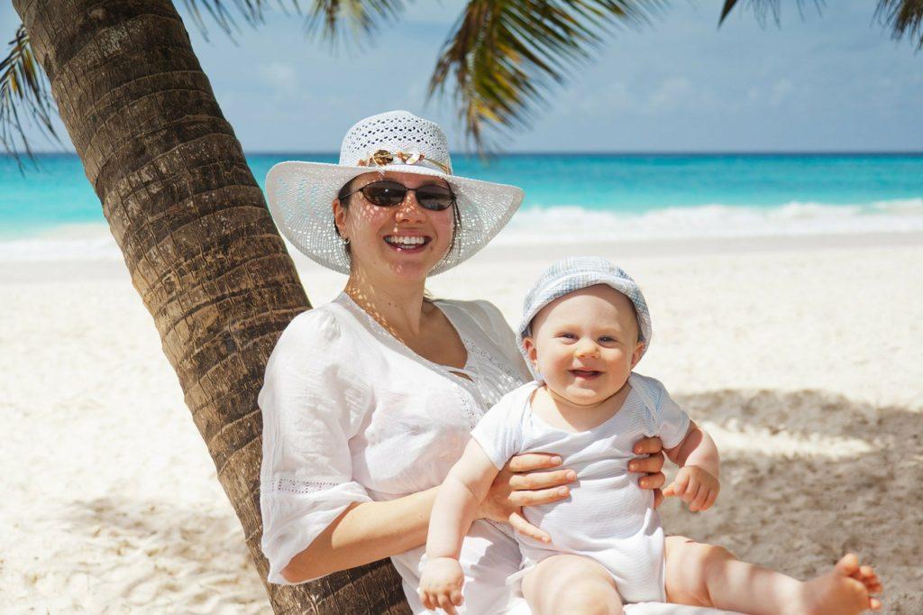 Mama und Baby in der Karibik