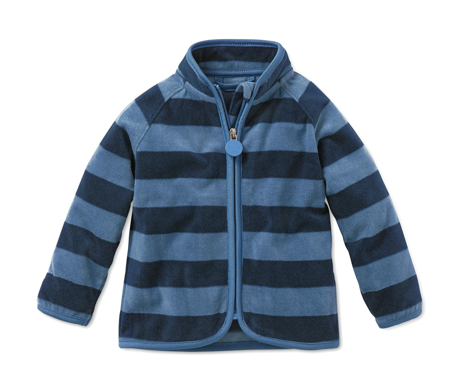 fleecejacke blau gestreift