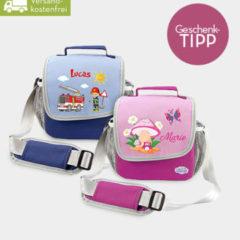 Kindergartentasche in blau und pink