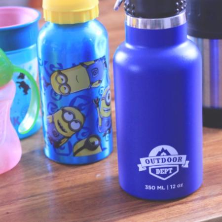 Trinkflasche für Kinder mit Minion-Print