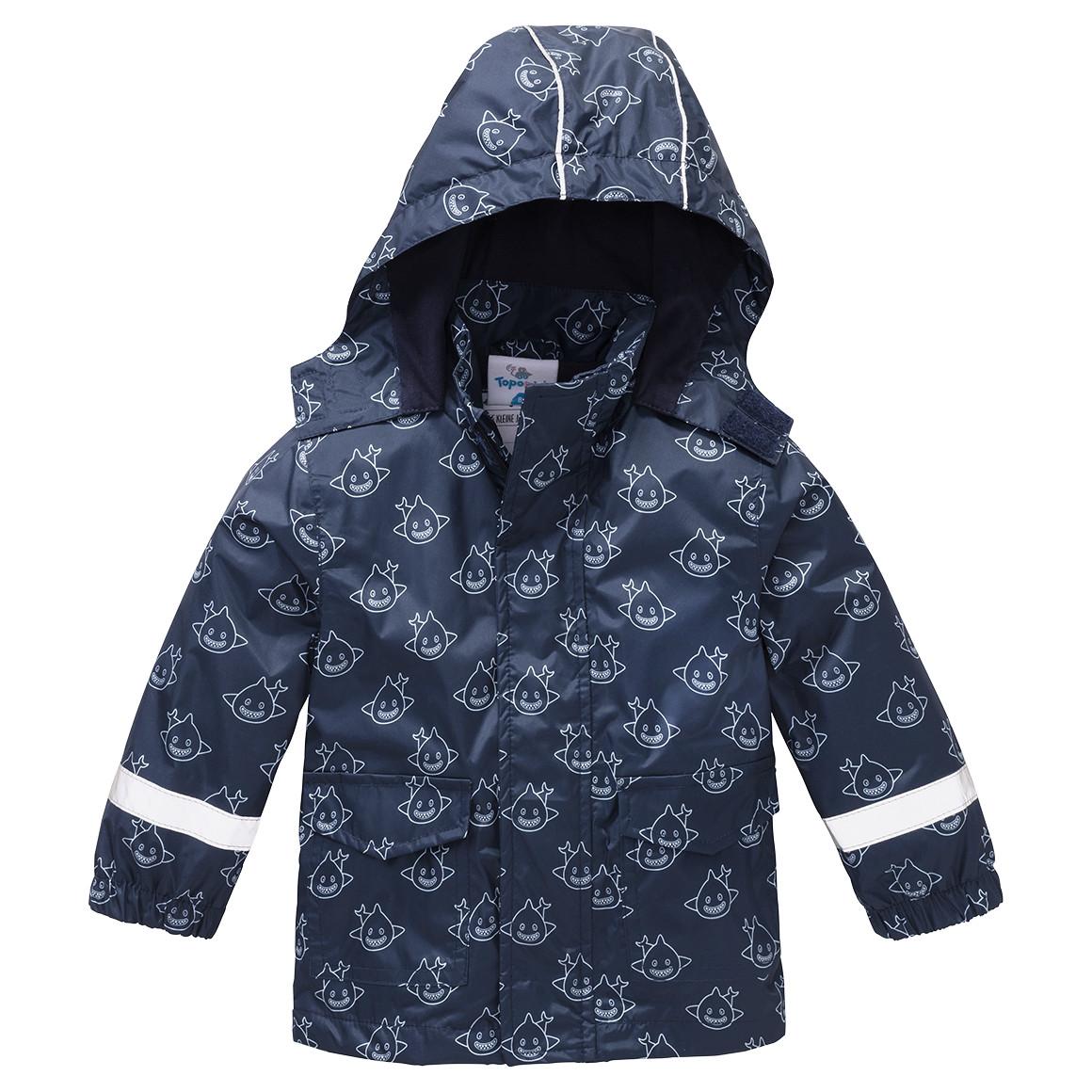 dunkel blaue Regenjacke für Jungen