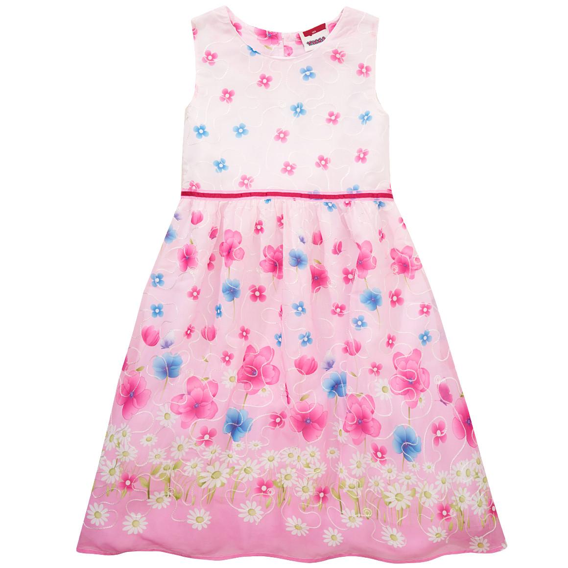 pinkes Kleid mit Blümchenmuster