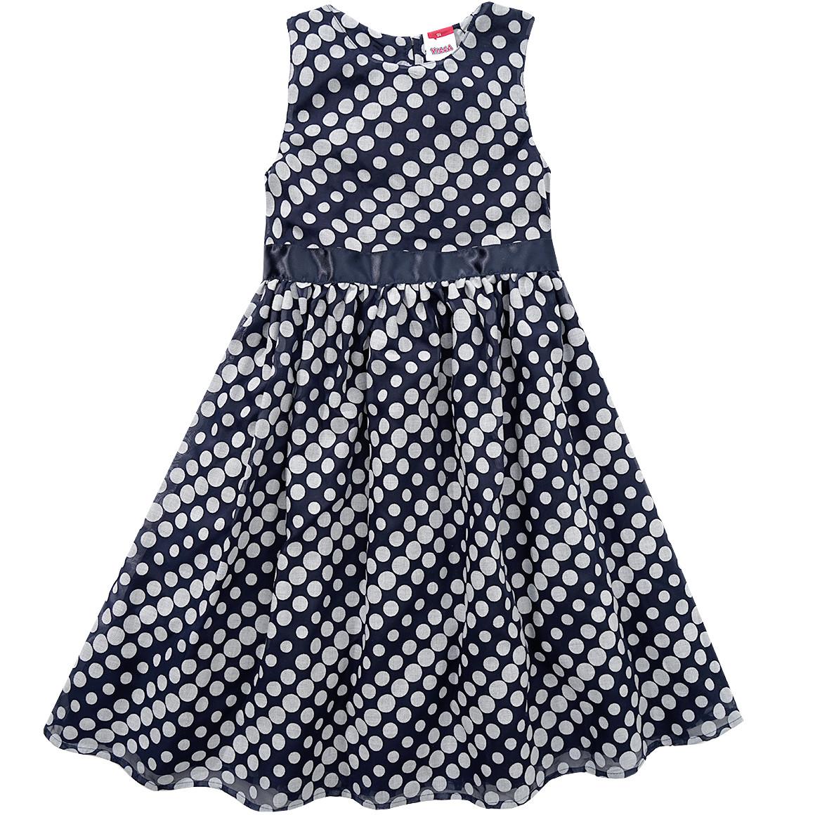 blau weiß gepunktetetes Kleid