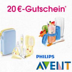 20€ Gutschein auf alle Avent Produkte
