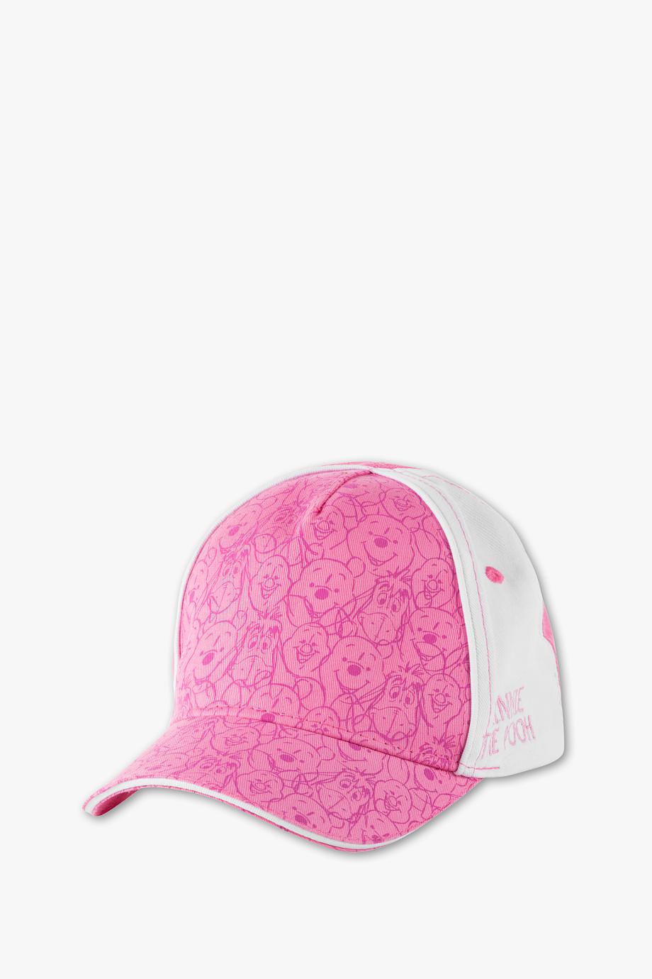 Kappi mit Winie Poooh aufdruck in weiß rosa