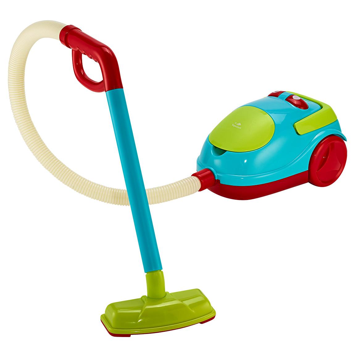 rot blauer Spielzeugstaubsauger