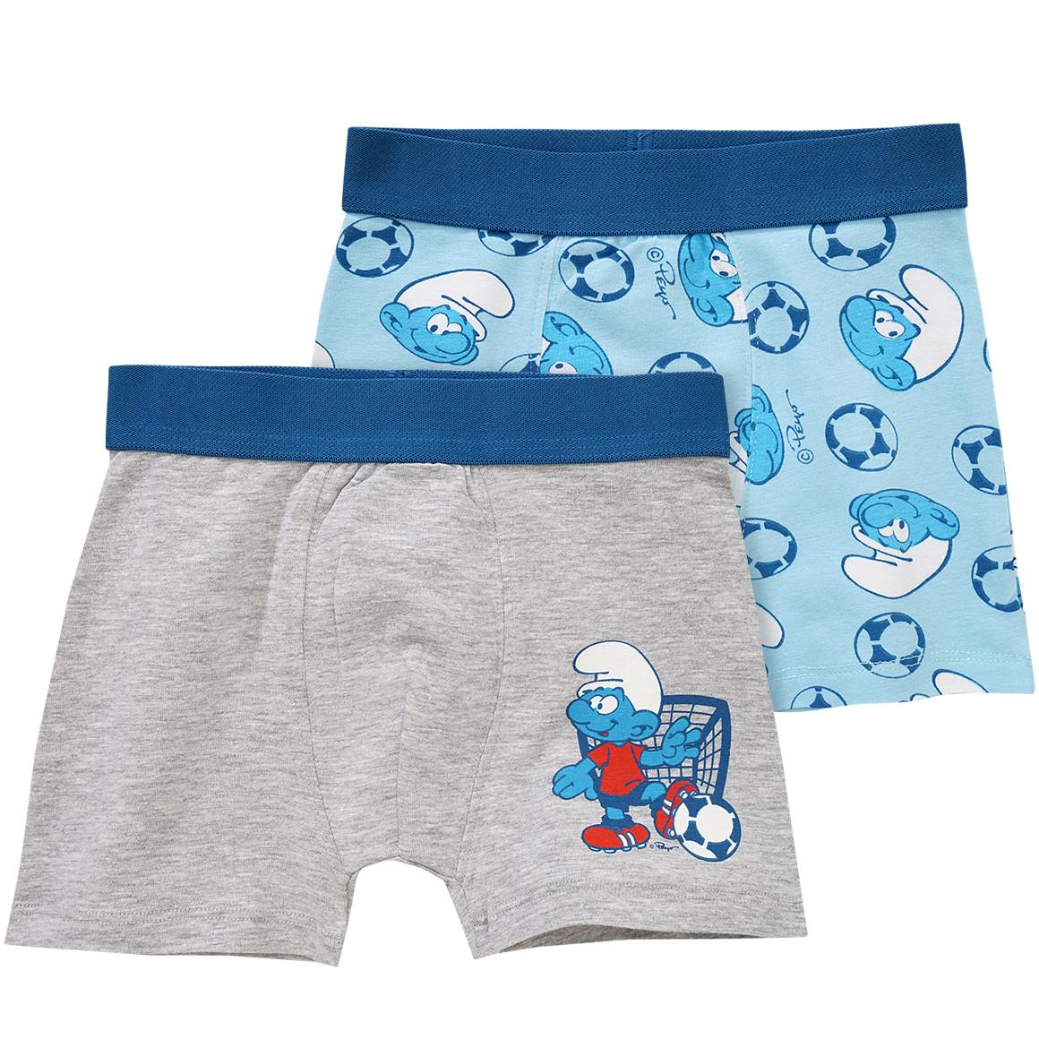 zwei boxershorts in grau und blau