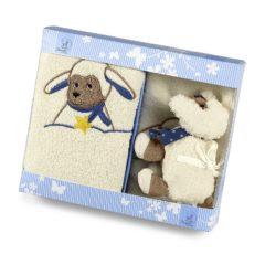 Geschenkset mit Schaf in blauer Verpackung