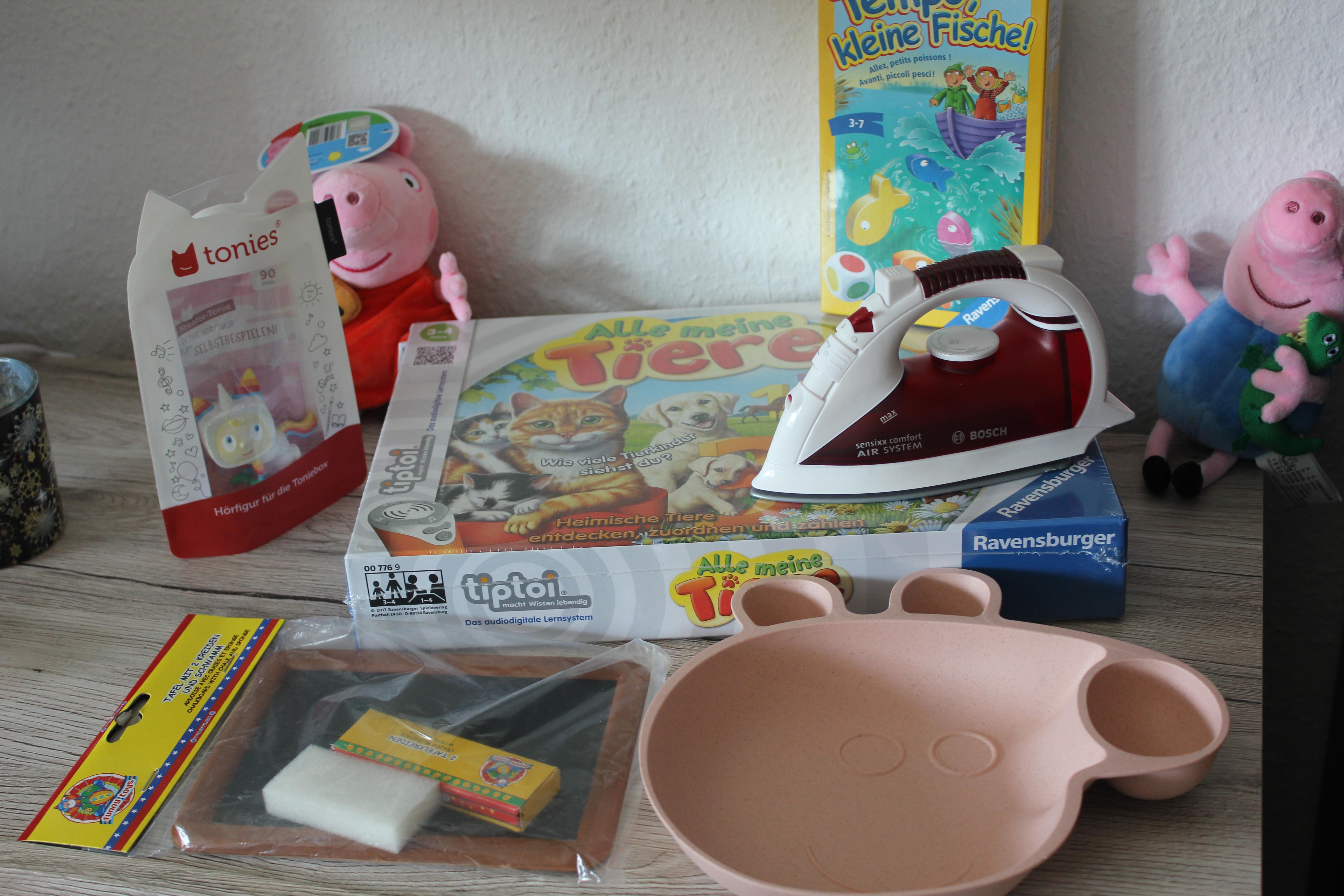 Kleine Geschenke Zusammenstellung zum dritten Geburtstag