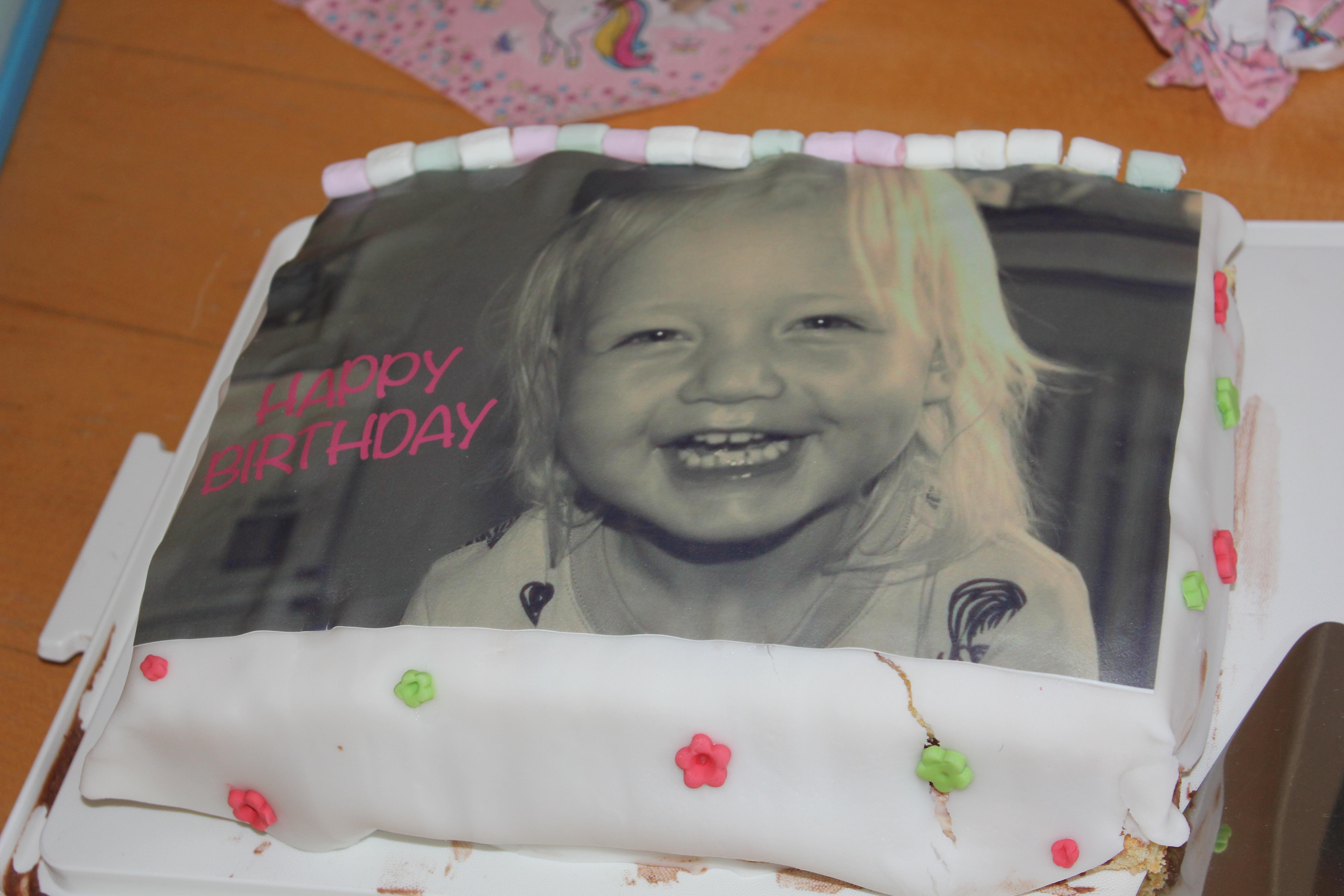 Geburtstagstorte mit Fotoaufleger