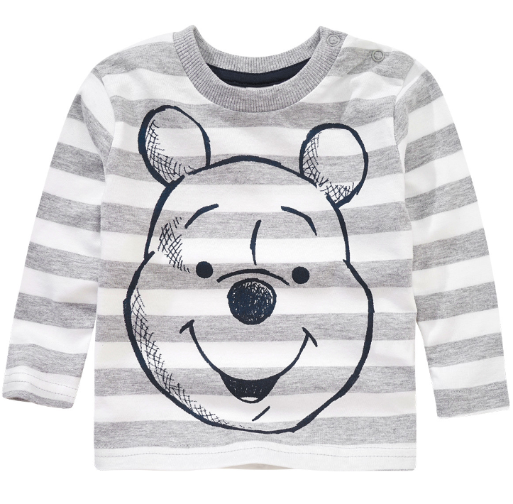 winnei Pooh Langarmshirt in grau mit Streifen