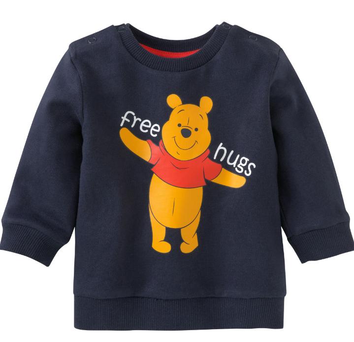 dunkelblauer Pullover mit Winnie Pooh Logo