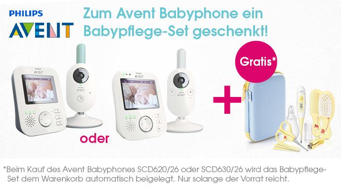 Babypflegeset gratis zum Babyphone dazu