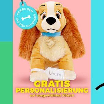 gratis Personalisierung von Plüschtieren im Disney Store