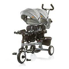 dreirad mit zwei Sitzen in grau