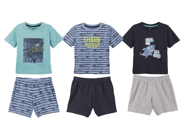 Shorty Sets mit kurzen Hosen und T-Shirt für Jungen in Blau grau tönen