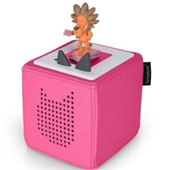 Toniebox in pink mit dem Löwen