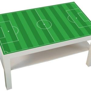 Klebefolie Fußballfeld für Ikea-Tisch