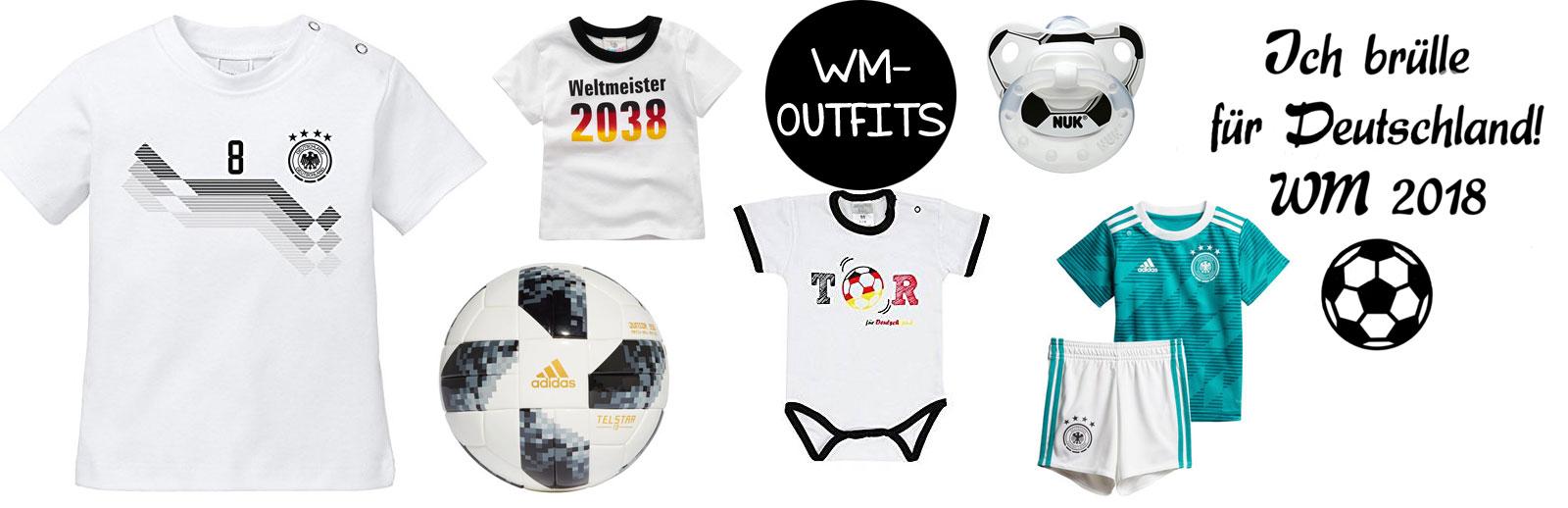 WM-Outfits für Babys und Kleinkinder