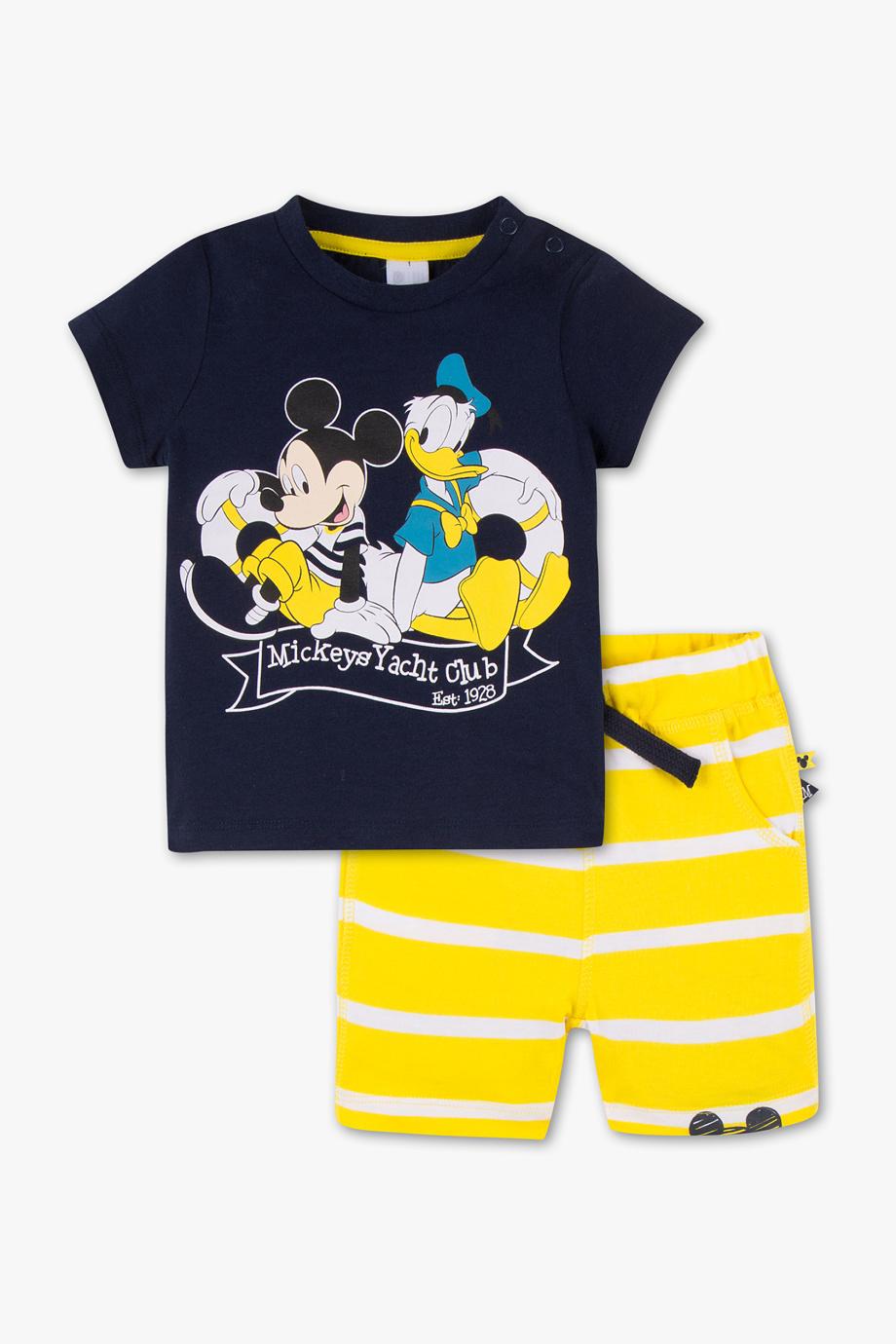 tshirt und hose für jungs in blau gelb