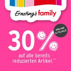 Ernsting's Family Super Mittwoch für Jahreskarten Inhaber