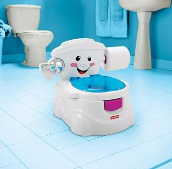 Fisher Price Kindertoilettensitz mit Gesicht
