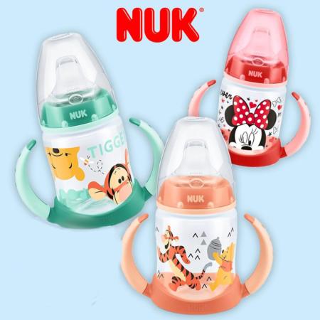 NUk Trinklernflasche mit Winnie, Tigger und Minnie Mouse Motiven