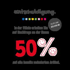 50% Rabatt in den Ernstings Family Filialen