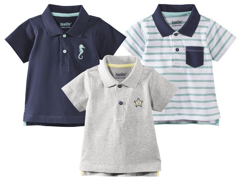 Poloshirts in grau und blau