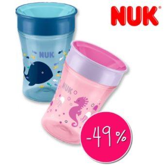 NUK Trinklernbecher in rosa und blau