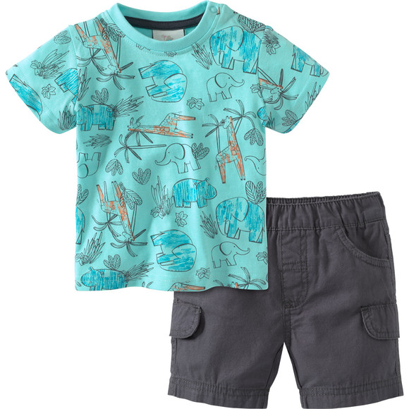 shorts und Tshirt in türkis