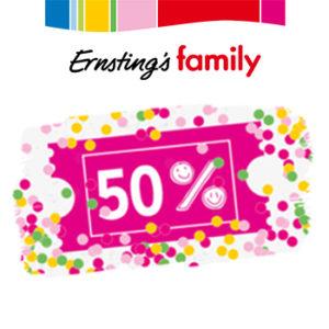 Ernstings Family: 50% auf bereits reduzierte Kleidung!