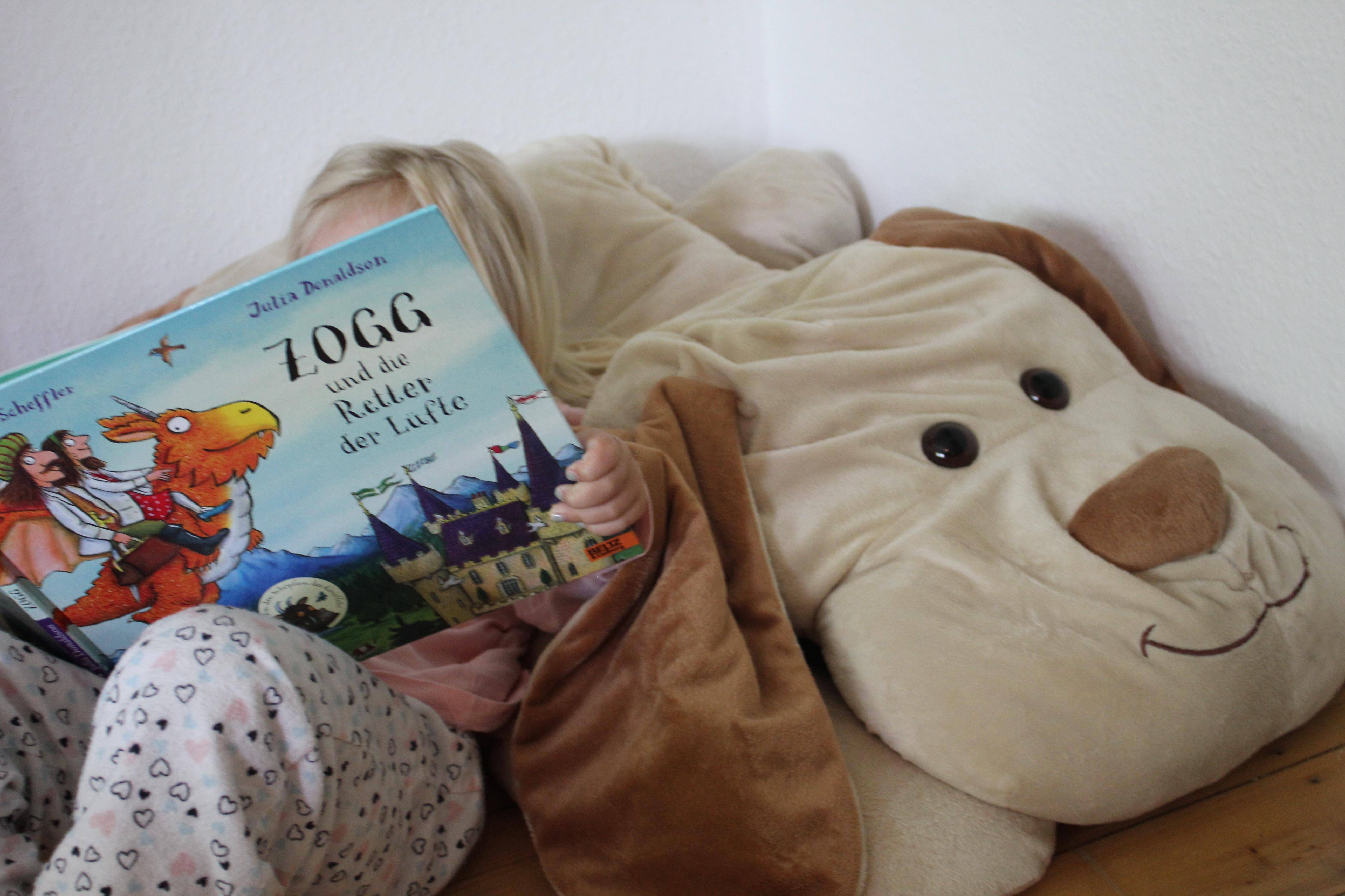 """Kind liest """"Zogg und die Retter der Lüfte"""""""