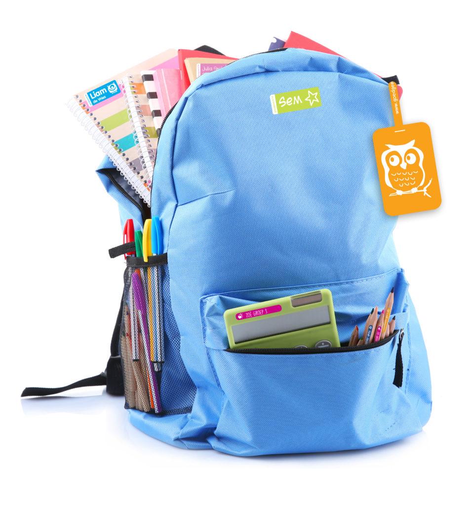 Rucksack bestens ausgestattet mit Gutmarkiert.