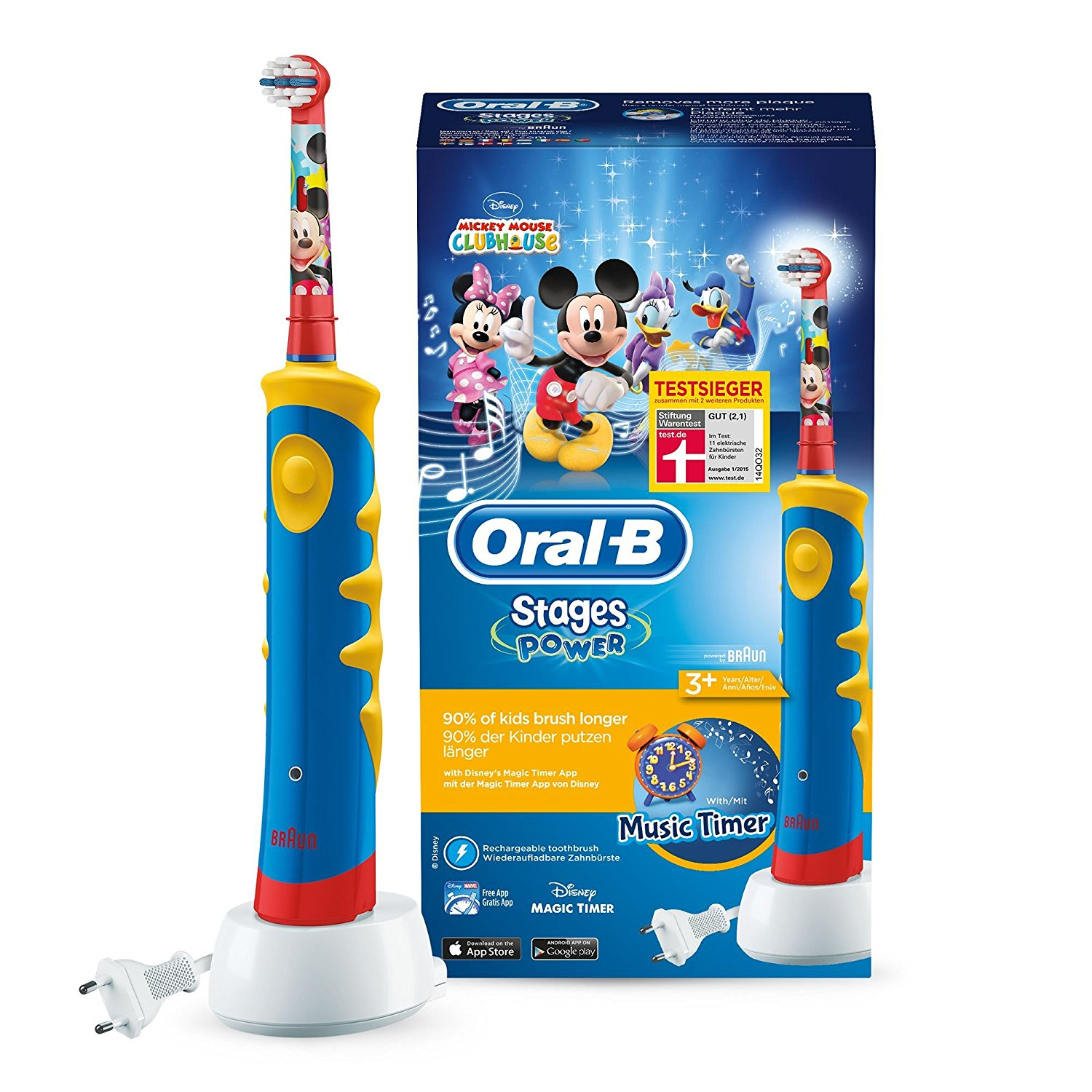 Kinderzahnbürste Oral B Stages Power im Micky Maus Design