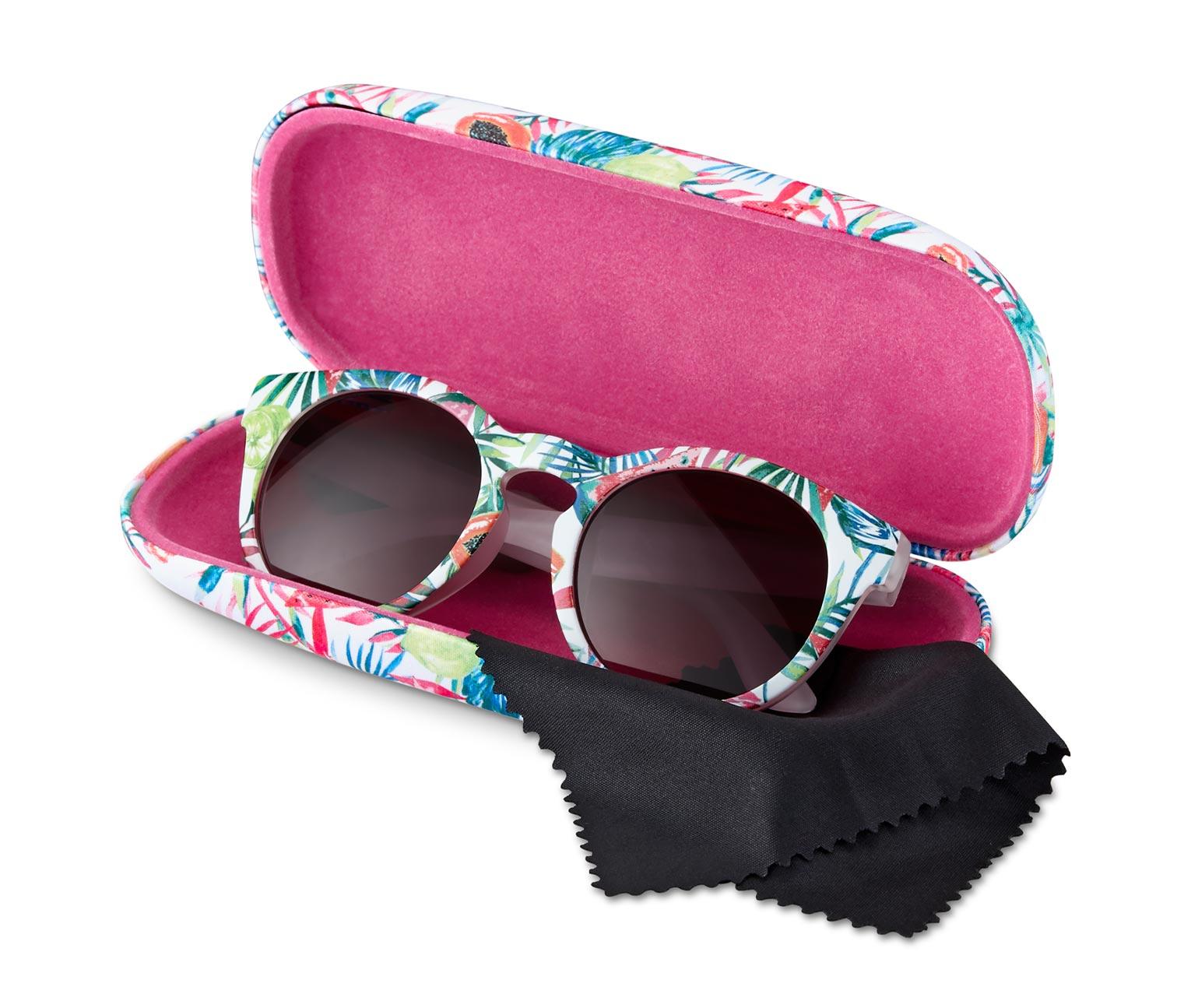 Sonnenbrille in pink blau