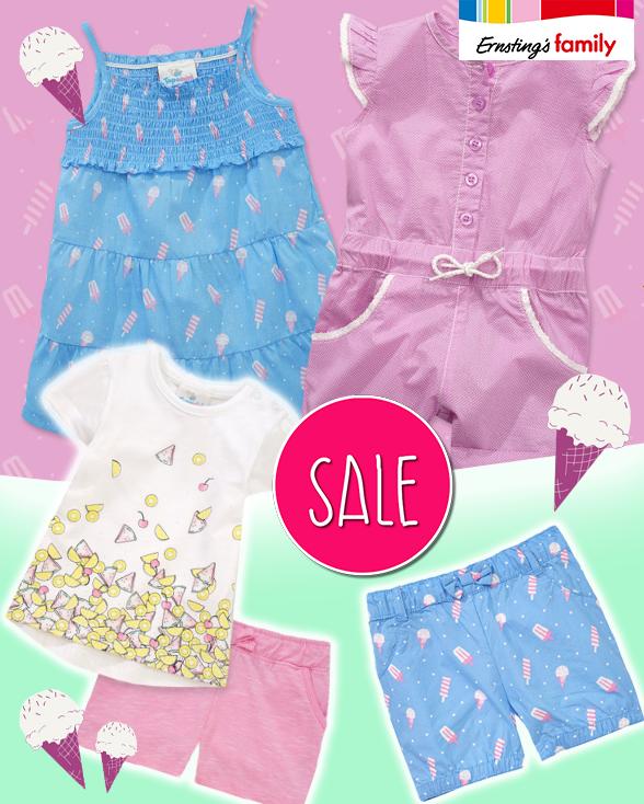 Babykleidung in Softeis-Farben