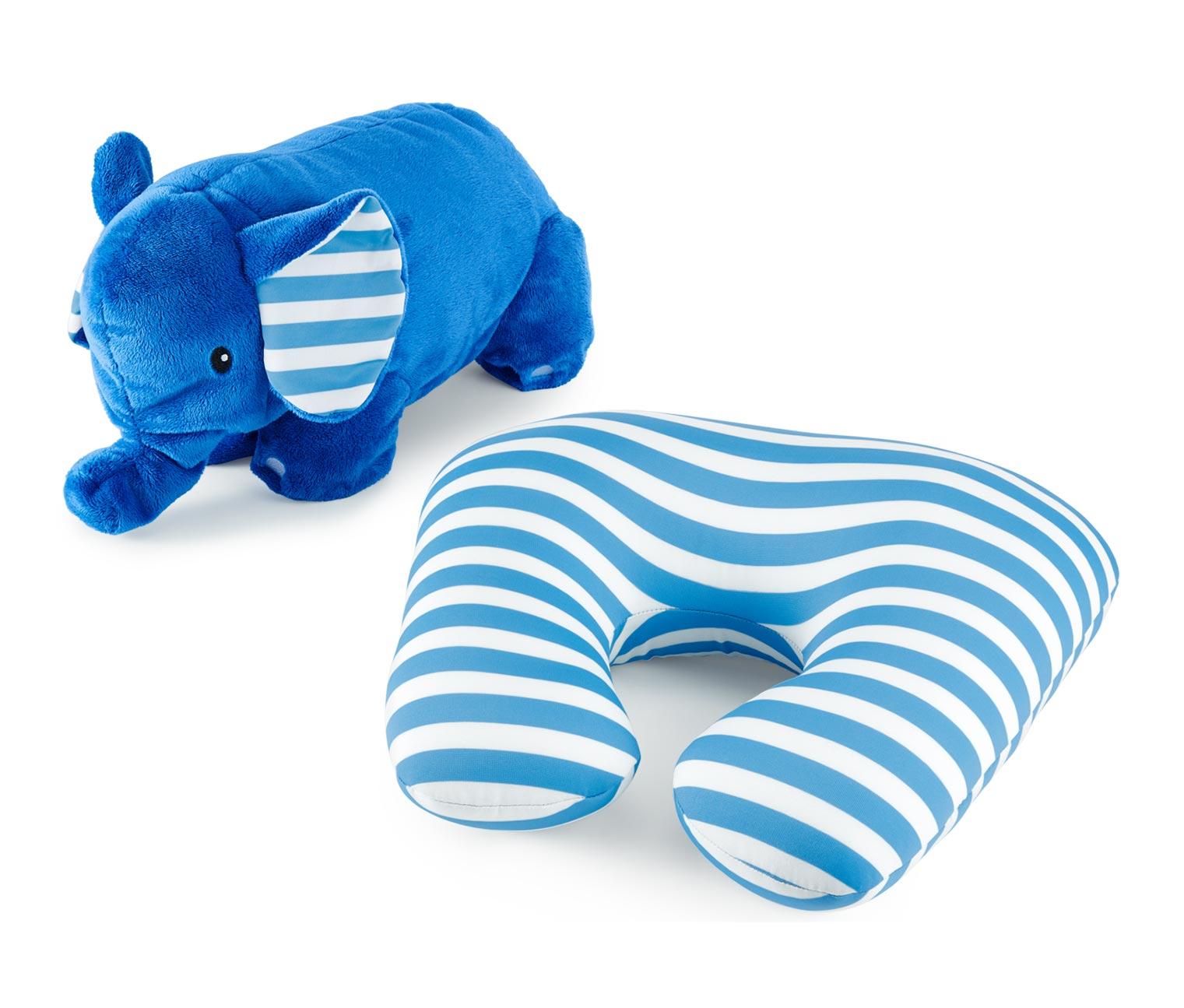 Elefanten Nackenkissen in blau