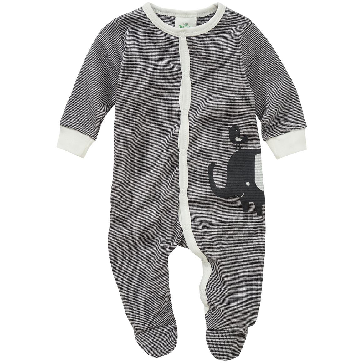 schlafanzug grau weiß