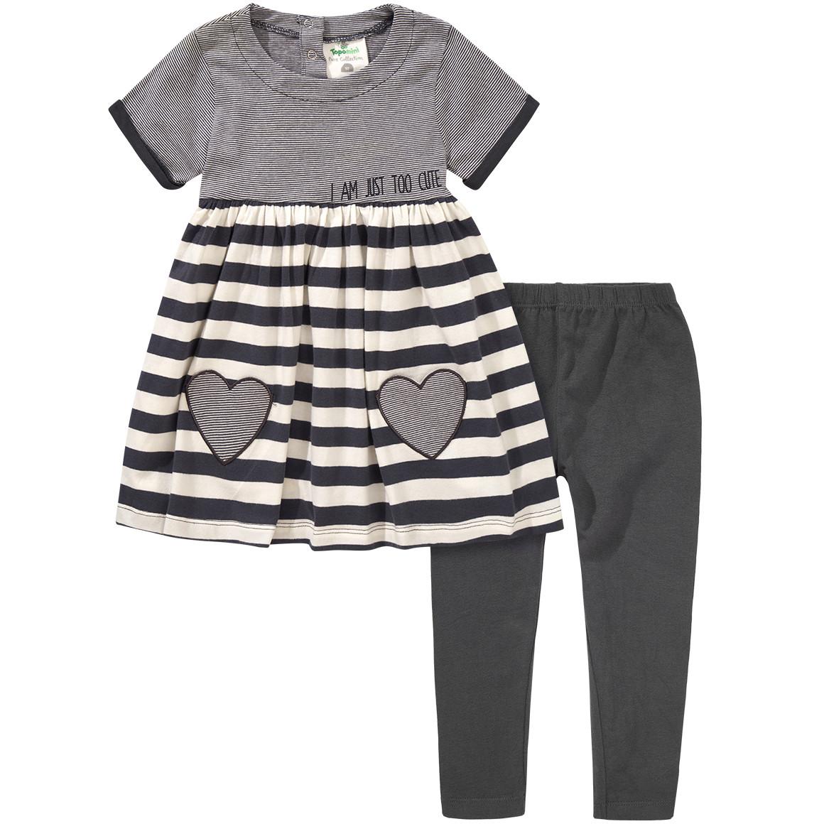 grauen kleid mit schwarzer leggins