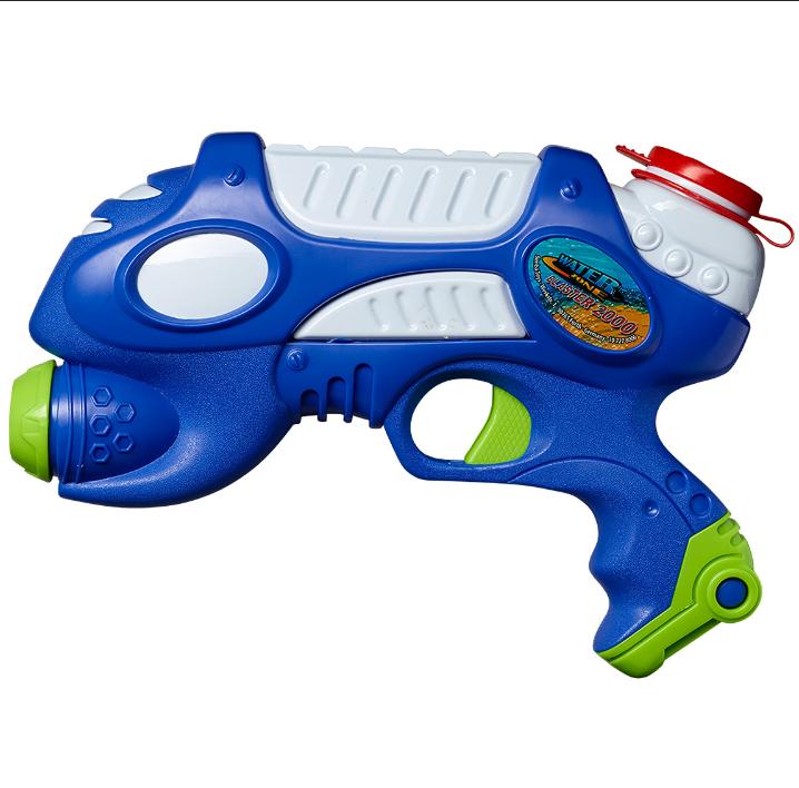 Wasserpistole in dunkel blau